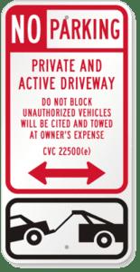 Do not block driveway NY